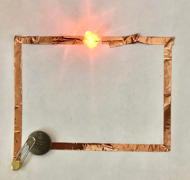 copper tape simple circuit with switch