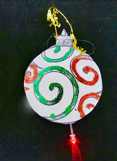 Making a light up ornament for Christmas