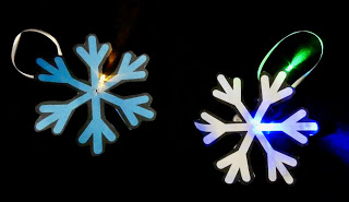 Making a light up snowflake ornament