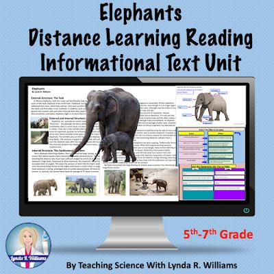 Elephants Informational Text Passages