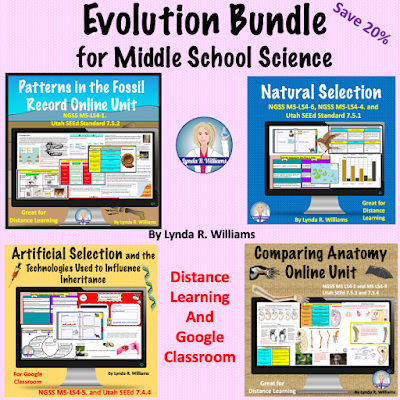 evolution middle school science NGSS