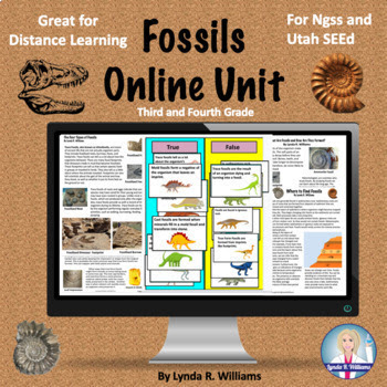 online fossil unit for third and fourth grade and fossil evidence
