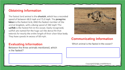 Obtaining, evaluating and communicating information