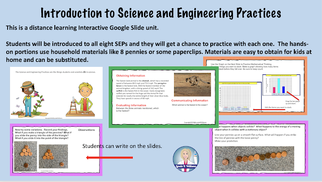 Distance Learning Unit for Science and Engineering Practices NGSS
