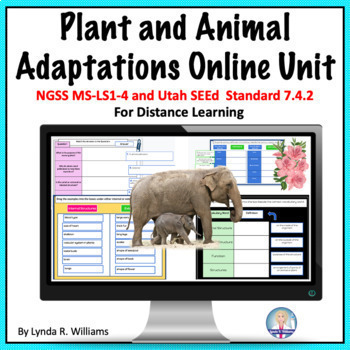 Distance Learning Plant and Animal Adaptations Middle School NGSS