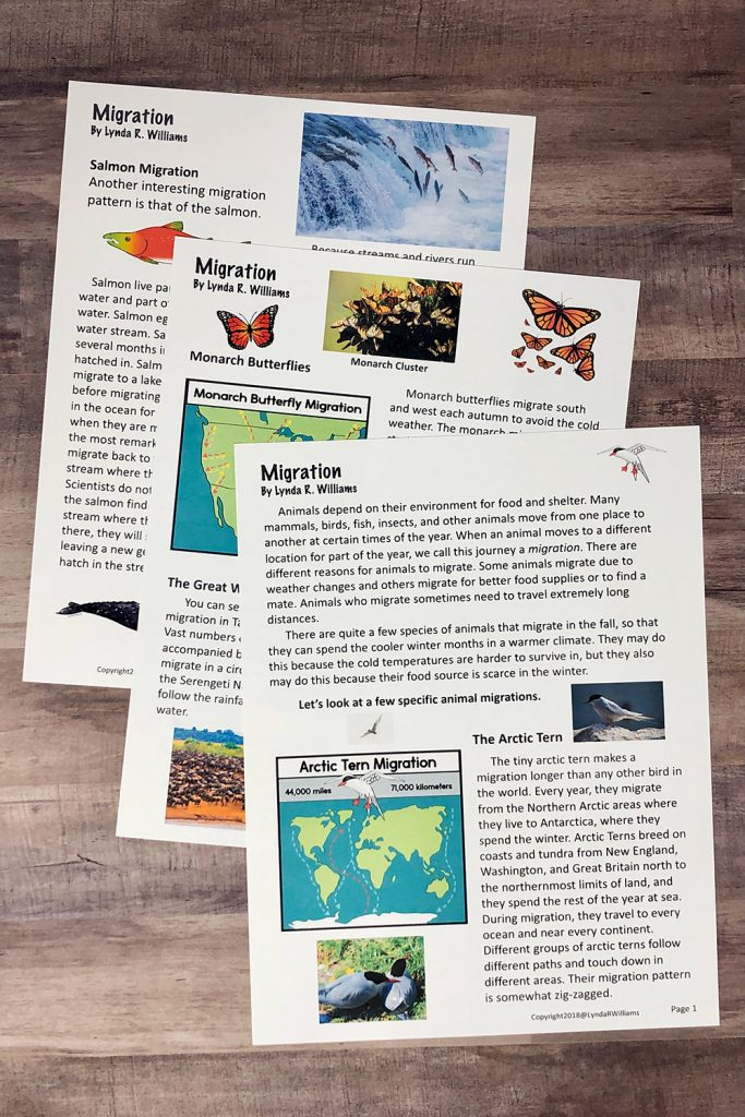 migration informational text passages