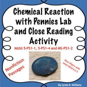 chemical reaction with pennies