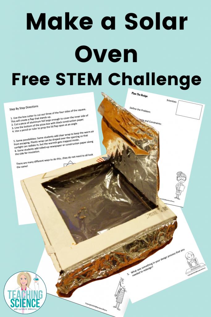 make a solar oven stem challenge
