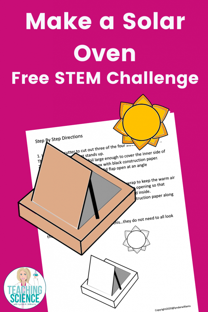 Make a solar oven STEM engineering activty