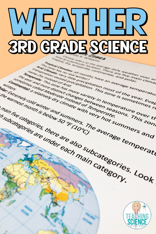 Weather and Climate Third Grade Science