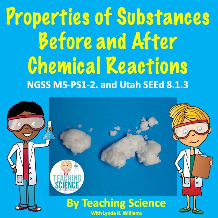 properties of substances before and after chemical reactions