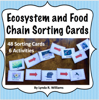 Ecosystem and food chain sorting cards