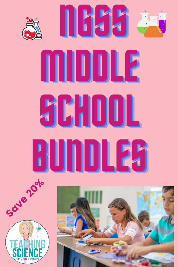 NGSS science bundles for middle school