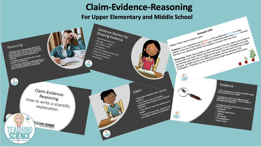 claim evidence reasoning slide show